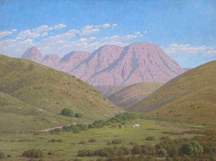Jan Ernst Abraham Volschenk; Verdant Hills and Mountains Fair, Heidelberg