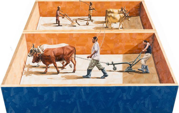 Sipho Ndlovu; Sculpture Ploughing