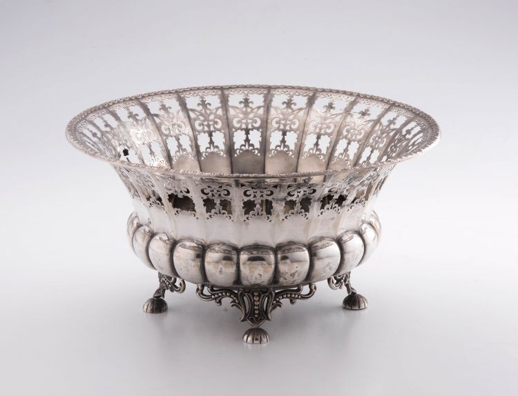 A German silver pierced basket, Bruckmann & Sohne, late 19th/early 20th century, . 800 standard