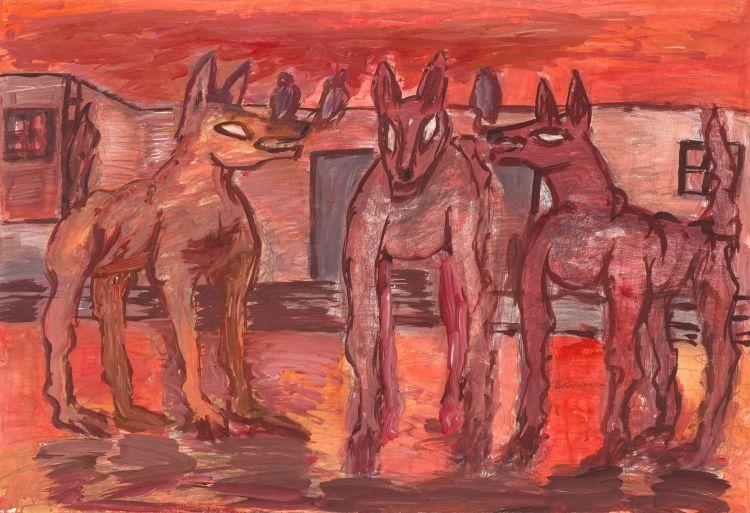 David Koloane; Three Street Dogs