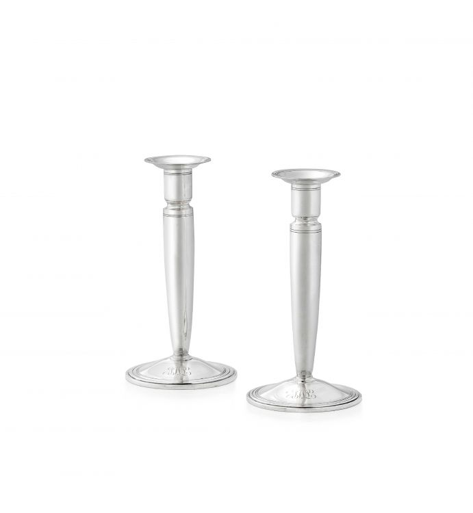 A pair of Tiffany & Co silver candlesticks, 1947-1956, .925 sterling