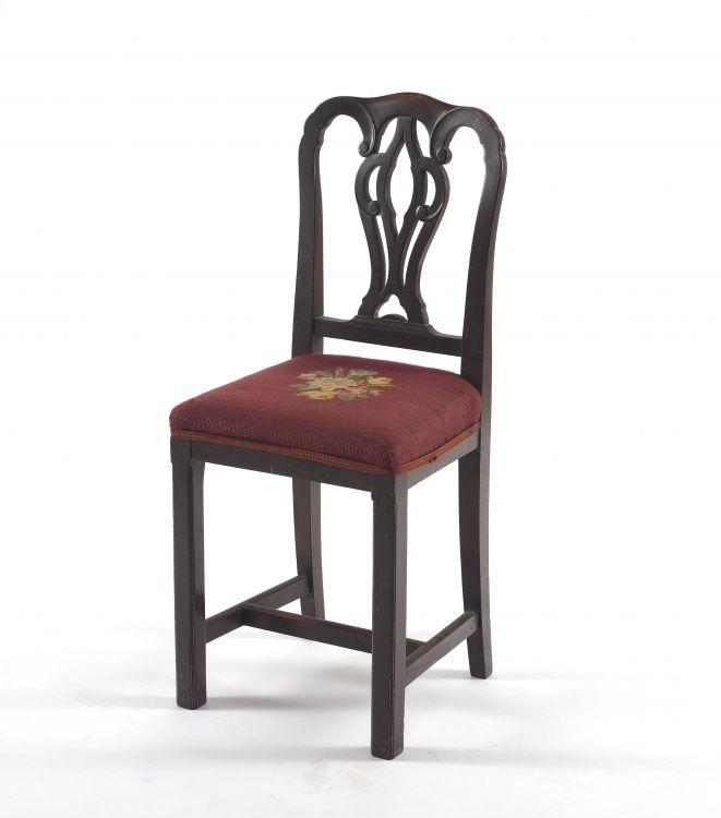 A George III mahogany high side chair