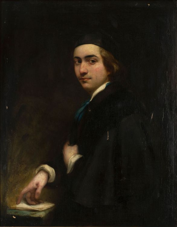 British School 19th Century; Portrait of a Young Man