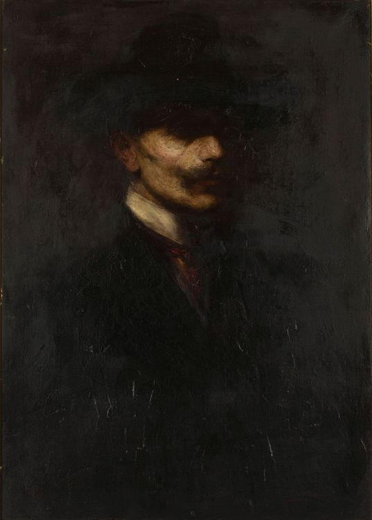 Continental School 19th Century; Portrait of a Man with a Moustache