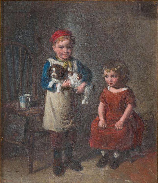 William Hemsley; Children with a Dog
