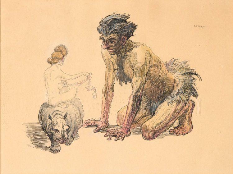 Heinrich Kley; Tempting Satan