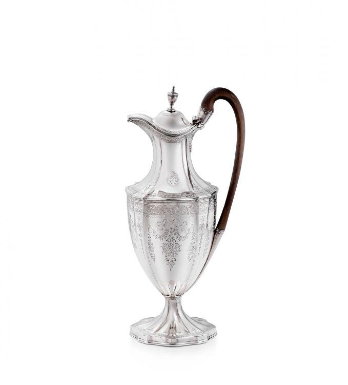A George III silver hot water jug, Thomas Graham & Jacob Willis, London, 1791
