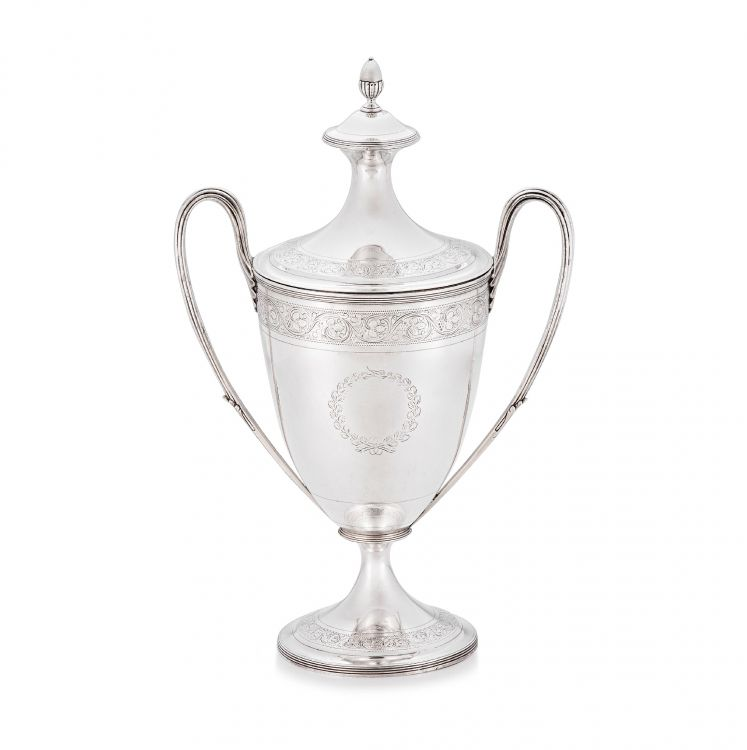 A George III silver two-handled presentation cup and cover, Henry Chawner, London, 1796