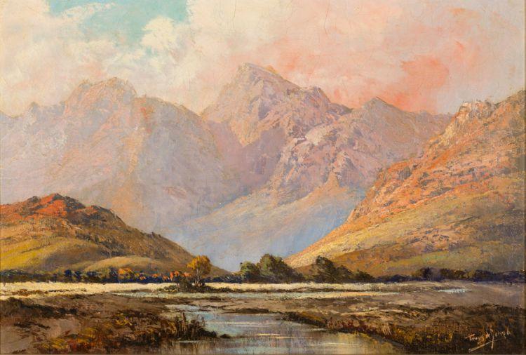 Tinus de Jongh; Mountain River Valley
