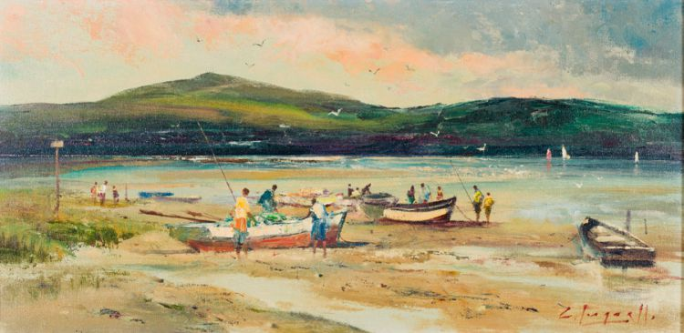 Christopher Tugwell; Boats with Fishermen