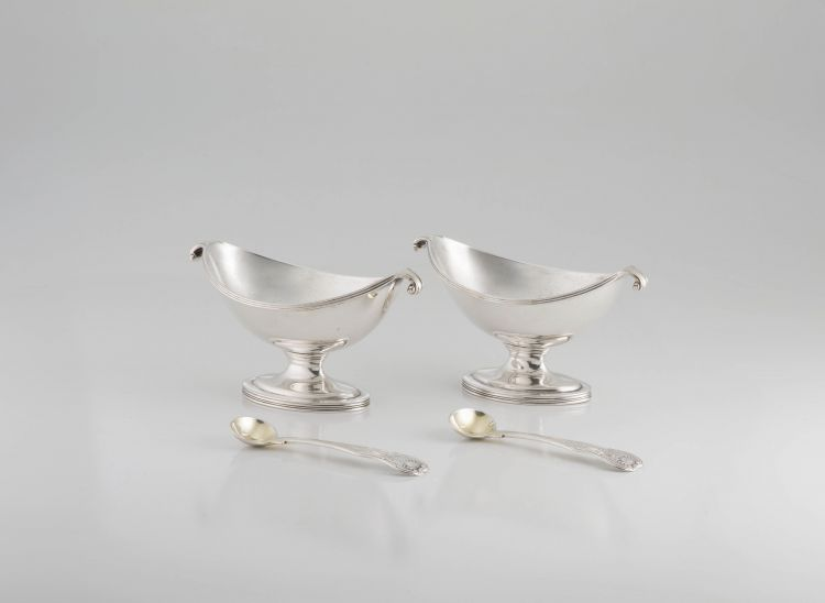 A pair of George III silver salts, William AbdyII, London, 1793