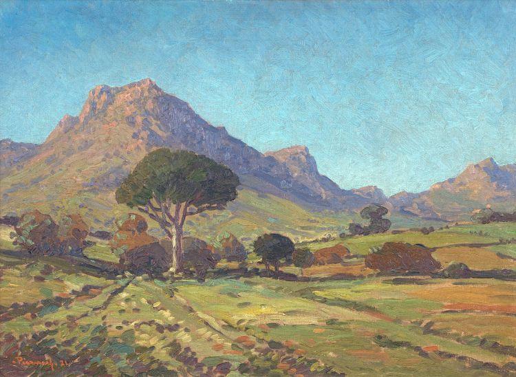 Jacob Hendrik Pierneef; Stellenbosch Landscape