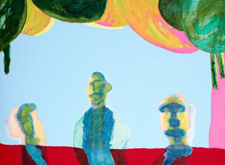Robert Hodgins; Three Characters in Search of a Painter - and I know some smart-ass critic will say: