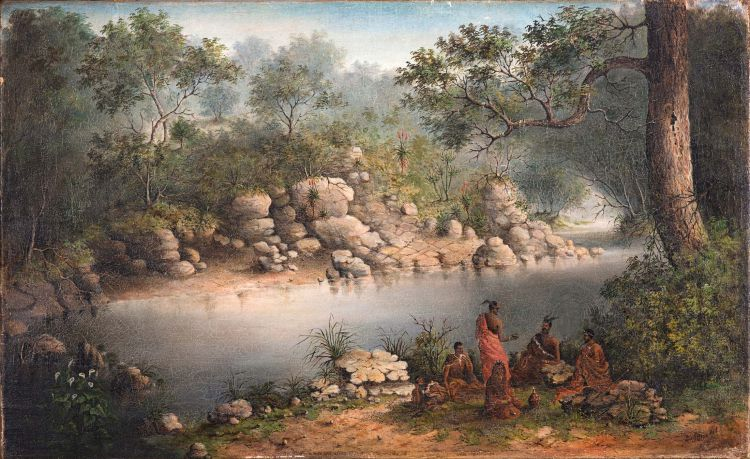 after Frederick Timpson I'Ons; Chiefs in Council at the Kariega River