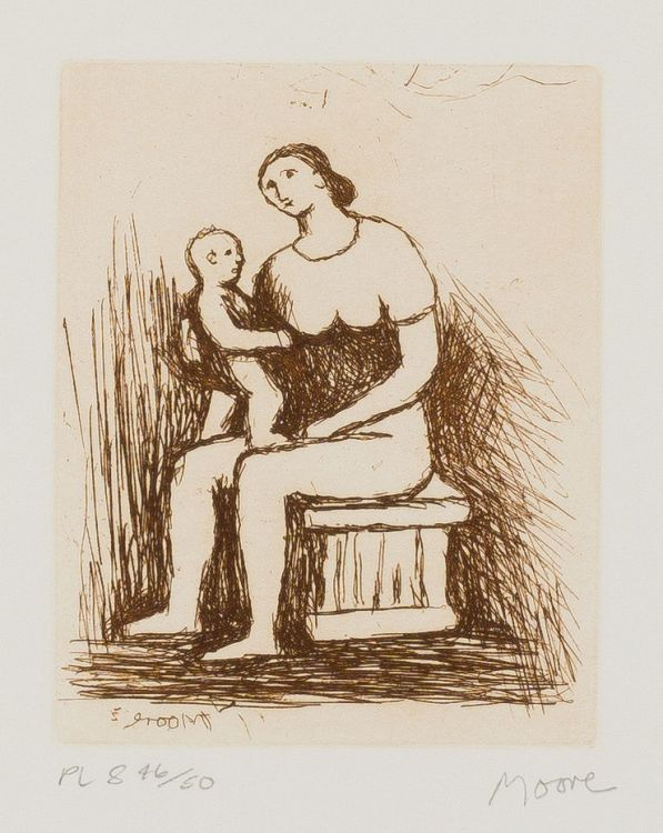 Henry Moore; Mother and Child
