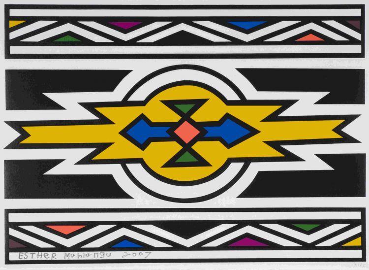 Esther Mahlangu; Untitled