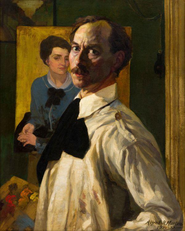 Alfred Richard Martin; Self-Portrait of the Artist
