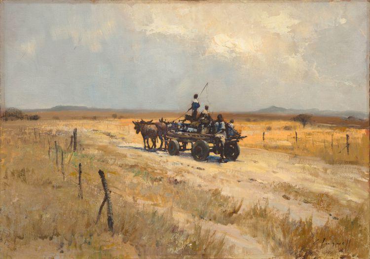 Christopher Tugwell; Children on a Donkey Cart