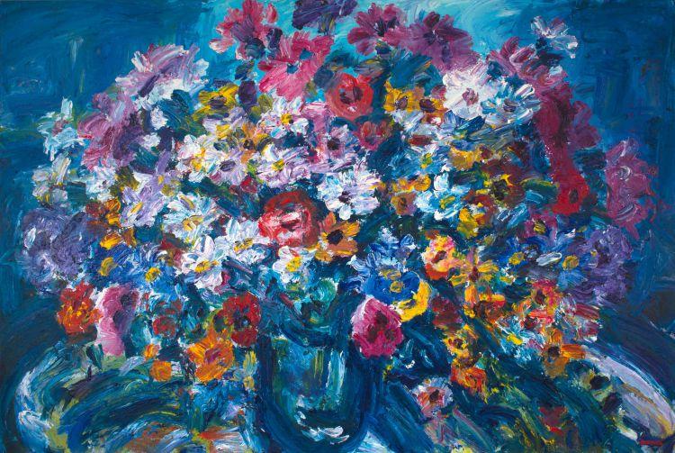 Gerhard Batha; Flowers in a Glass Vase
