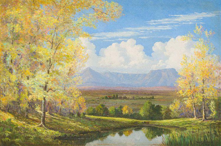 Vera Volschenk; Landscape with Autumn Trees