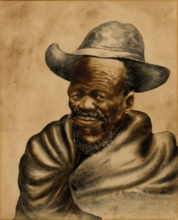 Mizream Maseko; Portrait of an Old Man