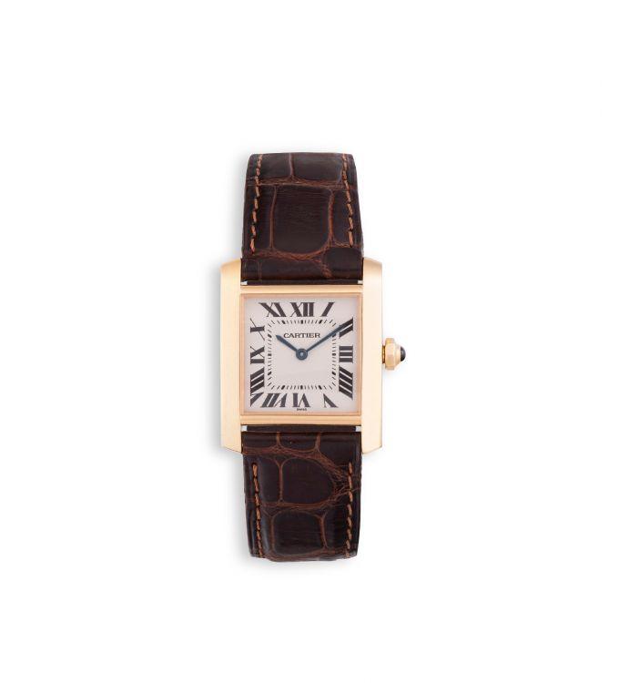 Lady's 18ct gold Tank Louis Cartier wristwatch, Ref. MG282623