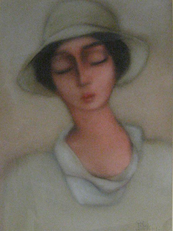 Pieter van der Westhuizen; Portrait of a Girl wearing a Hat
