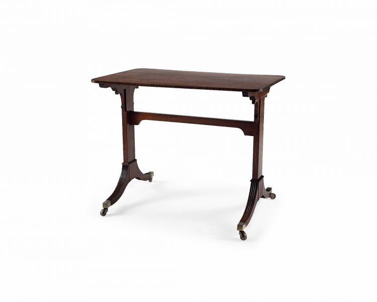 A George IV mahogany side table