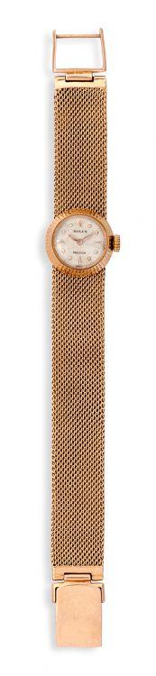 Lady's gold Rolex bracelet wristwatch, 1960s