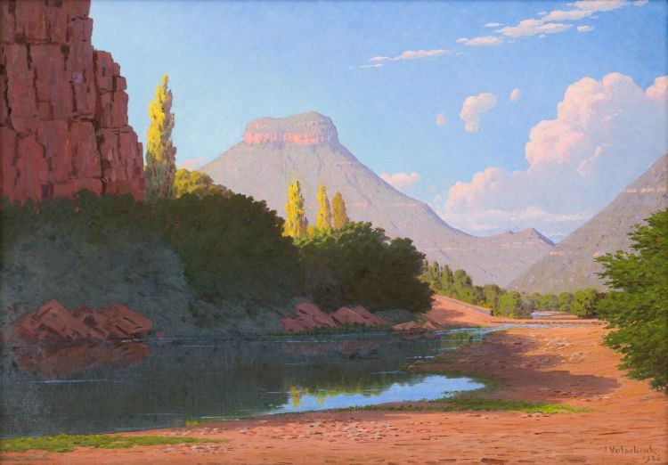 Jan Ernst Abraham Volschenk; Shadowed Pool and Krantz, Graaff-Reinet