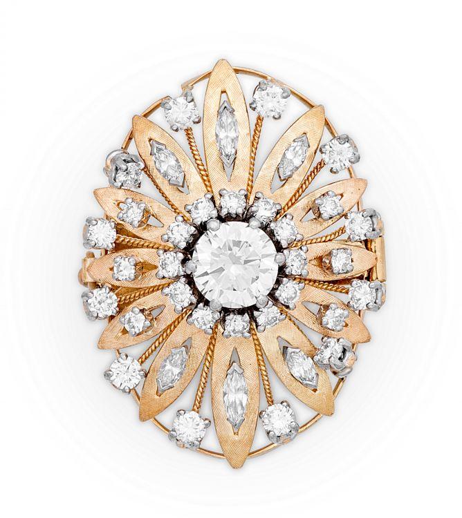 Diamond gold pendant/connector
