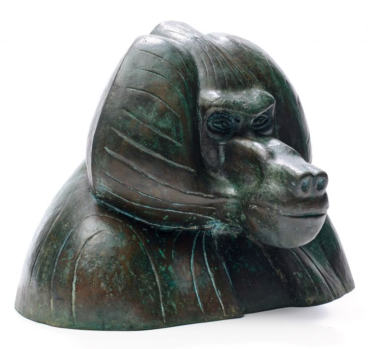 Elsa Hermine Dziomba; Bust of a Baboon