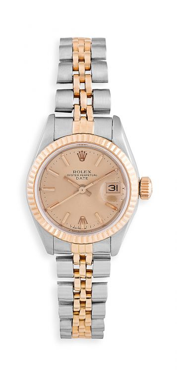 Lady's 18ct yellow gold and stainless steel Oyster Perpetual Datejust Rolex wristwatch