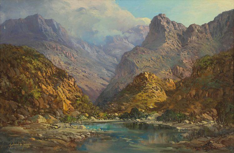 Gabriel de Jongh; Mountain Landscape