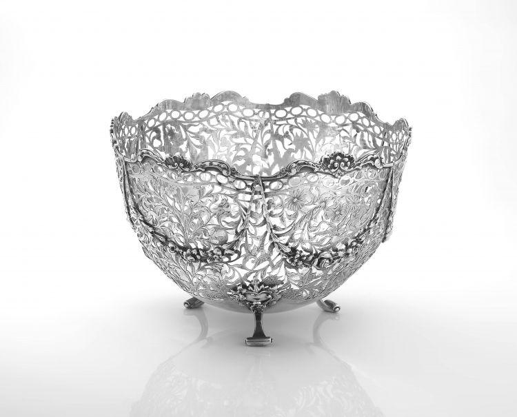 A Dutch silver pierced basket, .934 standard, with import marks for Samuel Boyce, London, 1903