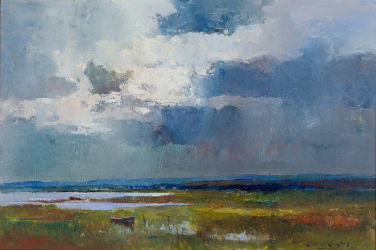 Errol Boyley; Wetland with Boat