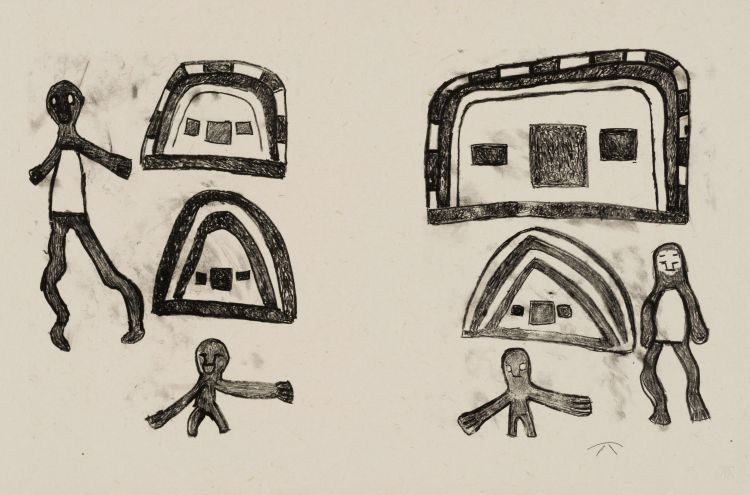 Katunga Carimbwe; Caravan and Tents at Schmidtsdrift