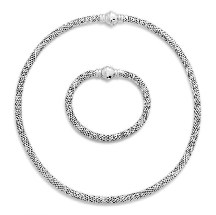 Italian 'Jessica' 18ct white gold necklace