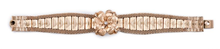 Lady's diamond and gold cocktail watch