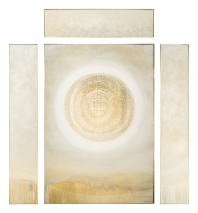 Larry Scully; Abstract Composition with Circular Form, four
