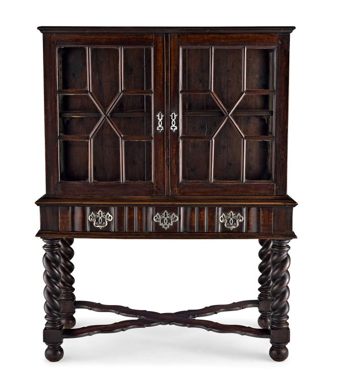 A stinkwood cabinet-on-stand, early 20th century