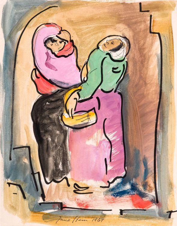 Irma Stern; Two Women