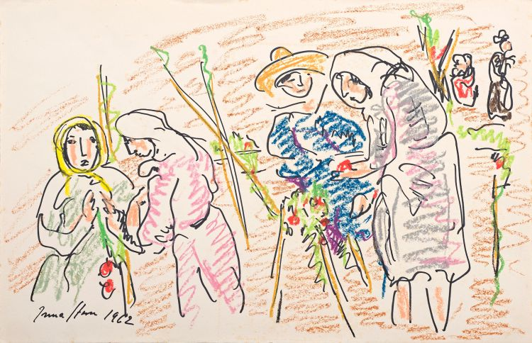 Irma Stern; Study for Tomato Pickers