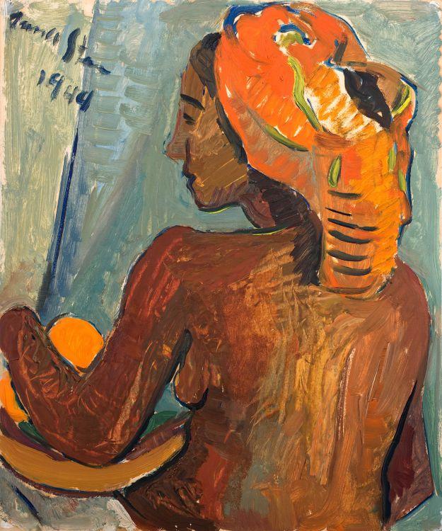 Irma Stern; Woman with Orange Headscarf