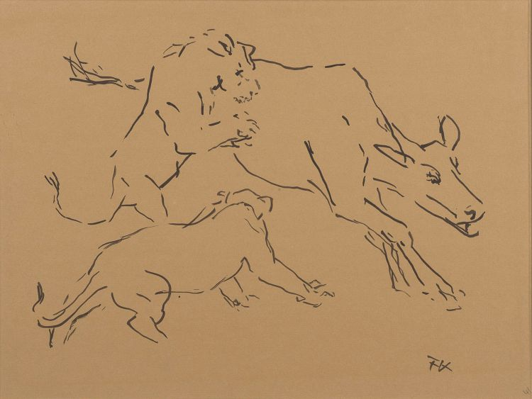 Fritz Krampe; Lion Kill