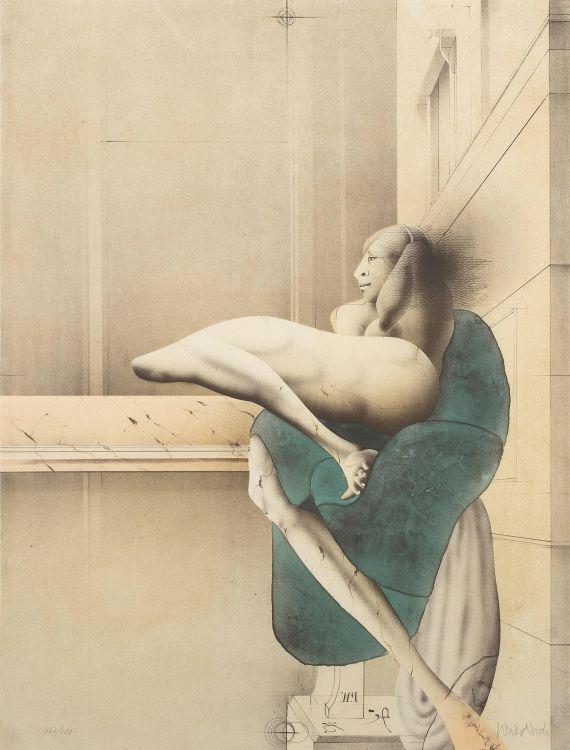 Paul Wunderlich; Der Morgen (Nach Michelangelo)