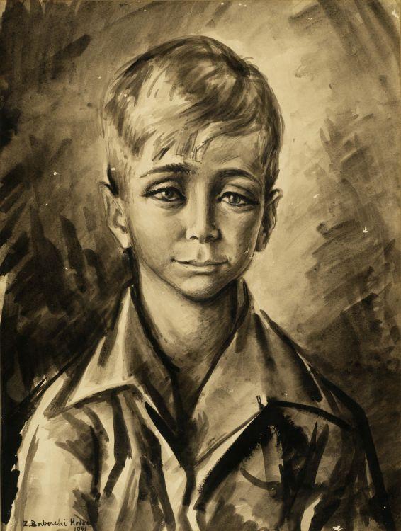 Zoltan Borbereki; Portrait of a Boy