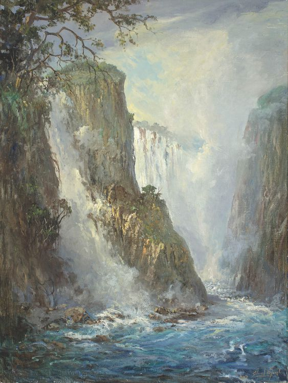 Gabriel de Jongh; Devil's Cataract, Victoria Falls