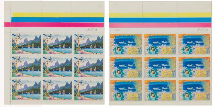 Walter Battiss; Fook Island Stamps