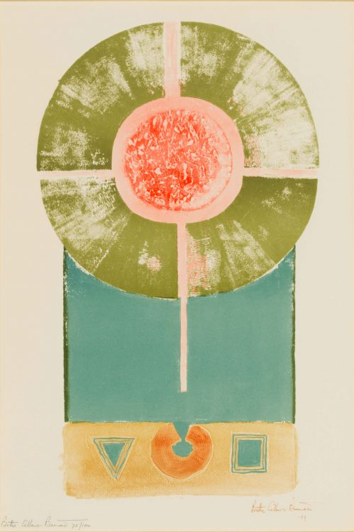 Bettie Cilliers-Barnard; Abstract with Geometric Shapes